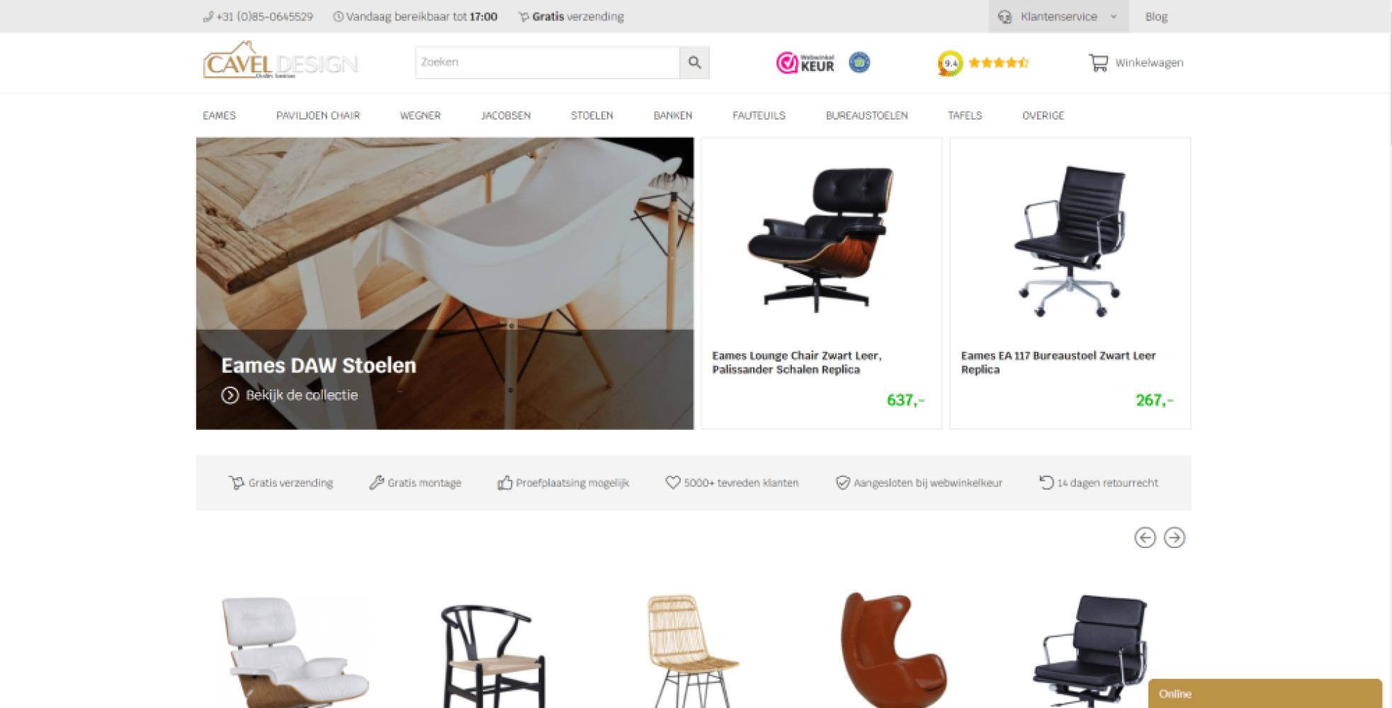 Cavel Design webshop - Inventus