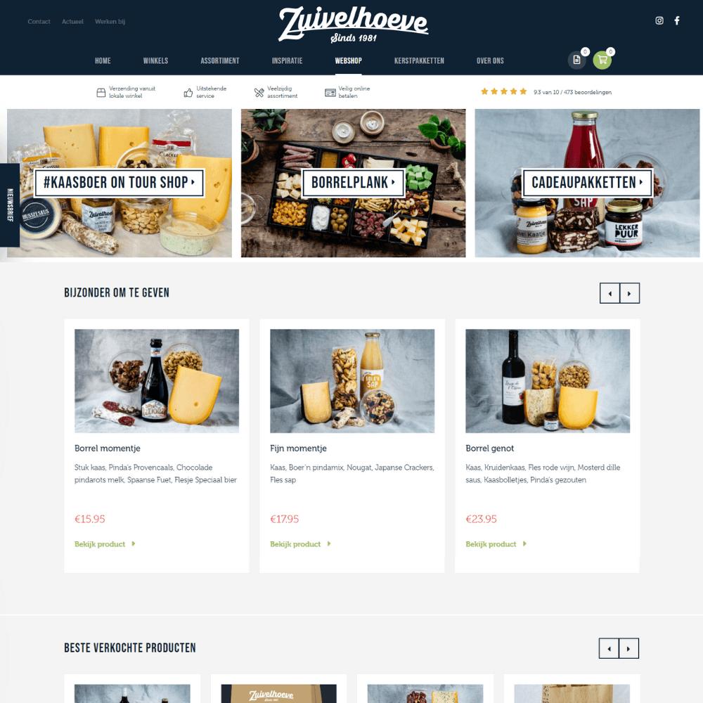 Zuivelhoeve Webshop - Inventus