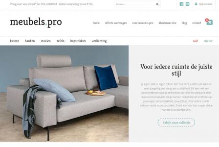 responsive webshop meubels.pro